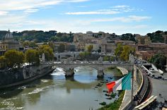 View of the Tiber river from the top of Castel Sant'Angelo