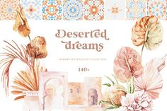 Deserted Dreams Moroccan Aesthetics by Soft Muse Art on Watercolor Clipart, Watercolor Kit, Watercolor Cactus, Watercolor Illustration, Creative Illustration, Watercolor Wedding, Google Drive, Bridal Invitations, Wedding Invitation