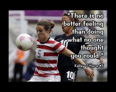 #Soccer #Quotes - #KelleyOHara Play Soccer, Soccer Stuff, Soccer Tips, Nike Soccer, Soccer Shoes, Soccer Cleats, Quote Wall, Wall Art Quotes, Soccer Motivation