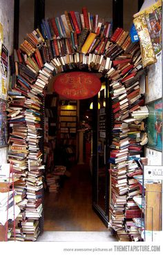 cool gate made of books