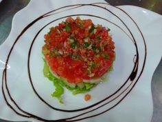 ensalada de patata y tomate