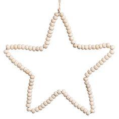 Suspension étoile en perles