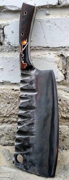 BERLOGA Cool Knives, Knives And Tools, Knives And Swords, Blacksmithing Knives, Beil, Forged Knife, Handmade Knives, Fantasy Weapons, Custom Knives