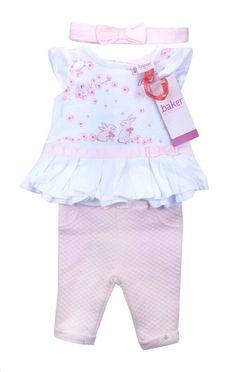09c9fda56 Ted Baker Baby Girls Outfit Top T Shirt Leggings Bunny DESIGNER Gift  Newborn