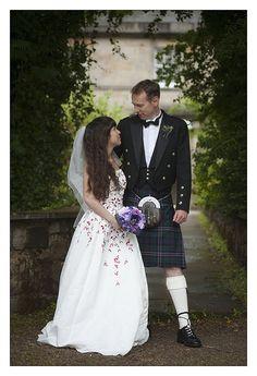 Wedding dress by Just Sew, West Calder. Model Julie, Groom Chris from Raptor Filmz    visit..  @ http://fashioncentris.com