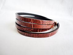 Mens Armbands – Four wrap crocodile leather bracelet . Unisex – a unique product by mitallerdenubes on DaWanda
