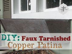 Create an aged copper patina look with this easy to follow step-by-step tutorial using Rustoleum spray paint and a bit of technique.