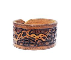 Beyond the Pines Leather Cuff Bracelet by BuffaloGoods on Etsy, $18.00