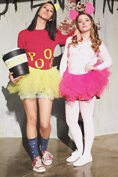 Halloween is a time to pull out some unique Halloween costumes for best friends! So we found some great Group Halloween Costumes for you and your best friends. Look at a list of these super cool Girlfriend Group Halloween Costumes, and you can find s Two People Halloween Costumes, Hallowen Costume, Cute Costumes, Halloween Kostüm, Halloween Outfits, 2 Person Costumes, Costume Ideas, Group Costumes, Halloween Costumes Triplets