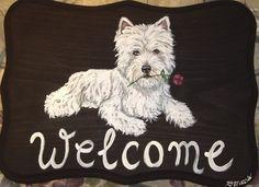 West Highland White Terrier Custom Painted by daniellesoriginals, $29.95
