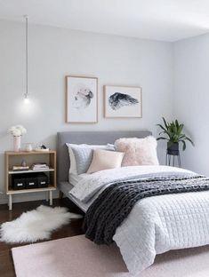 pink grey bedroom idea bedroom for women for teens for girls for couple master bedroom design. Bedroom Ideas For Couples Master Bedroom Design, Dream Bedroom, Home Bedroom, Bedroom Carpet, Master Suite, Bedroom Interiors, Bedroom Kids, Bedroom Apartment, Pink Gray Bedroom