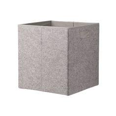 HEMA boîte de rangement - 30 x 30 x 32 cm - feutrine - gris HEMA (Gris)