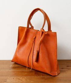 Nice cognac leather bag!