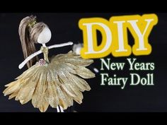 DIY Fairy Doll for New Years. This DIY fairy doll for new years was a last minute tutorial. Sorry it didnt come out a few days earlier. Hope you enjoy making this fairy doll. Fairy Crafts, Doll Crafts, Diy Nutcracker Doll, Tiny Dolls, Cute Dolls, Doll Videos, Clothespin Dolls, Diy Hair Accessories, Garden Accessories