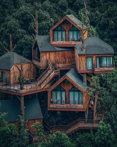 Insane treehouse (China) - Architecture and Home Decor - Buildings - Bedrooms - Bathrooms - Kitchen And Living Room Interior Design Decorating Ideas Hangzhou, Tianjin, House Tree Plants, Trees To Plant, Treehouse Cabins, Treehouses, Treehouse Living, Hidden House, Tiny House