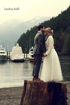 I'm usually an anti-wedding kind of person, but this is just lovely. I adore the jumper over the dress.