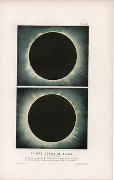 Total eclipse of the Sun, ca. 1860.