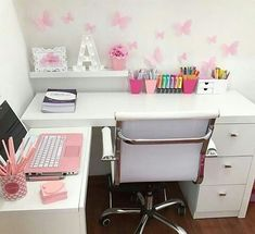 Kids study room Kids study room, Related posts: Fun Children's Study Room Design Ideas For Your Kids Types Of Study Room To Consider When you Need Your Special Work Place Ideas For Kids Room Desk Diy Vanities Ideas For Kids Room Desk Diy Vanities – Study Room Decor, Cute Room Decor, Bedroom Decor, Bedroom Ideas, Home Office Design, Home Office Decor, Home Decor, Girl Bedroom Designs, Aesthetic Rooms