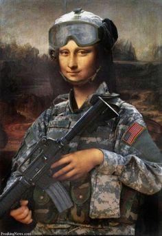 military women art
