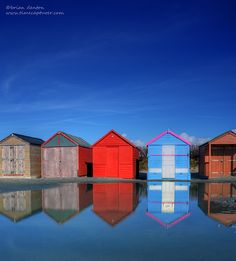 Colorful beach huts at West Wittering Beach in West Sussex, England_ UK West Wittering, Beach Huts, England Uk, Brighton, Countries, Robin, United Kingdom, Europe, Colorful