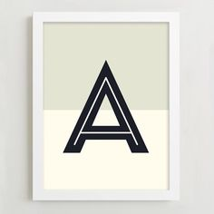 These mid century-inspired letter prints celebrate the typography of the 50s and 60s, from A to Z. Display one in a bedroom for a personalized touch, or cluster a few together to liven up blank walls.
