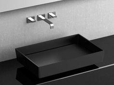 Countertop rectangular washbasin BLADE VISION by Bagno Design