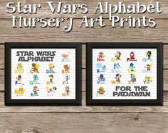 Star Wars Alphabet Baby Nursery Art Set of 2 Prints