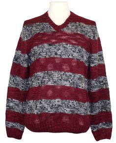 NEW Kenneth Cole Reaction Mens Sweater Wool V-Neck Elbow Patch Burgundy XXL $80 #KennethColeReaction #VNeck