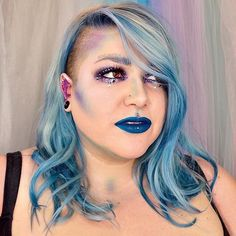 In love with the blue. <3 <3 Nerd Makeup Ambassador @darlingiknow knows how to appeal to our color/sparkly loving souls. More details on the look at her profile!  #EspionageCosmetics #NerdMakeup #lotd #motd #eotd #fotd #MUA #Makeup #Cosmetics #CrueltyFree #MakeupArtist