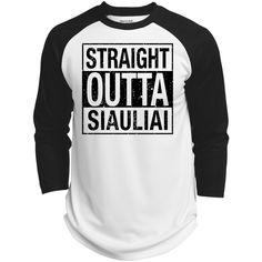 Outta Siauliai -- Guys Baseball Jersey
