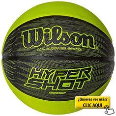 Wilson Hyper Shot I Balón, Negro / Amarillo,... #balon #basket