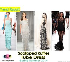 Scalloped Ruffles Tube #Dress #Fashion Trend for Spring Summer 2014 #fashiontrends2014 #spring2014 #trends #ruffles
