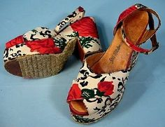 Vintage 40's Saks Fifth Avenue platform sandals, these are amazing! https://www.facebook.com/Scarlet-Fury-Vintage-108515712513687/