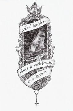 I would use the words with a different ship for my pirate themed right side of my torso.