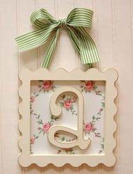 Framed Wooden Letters for Nursery