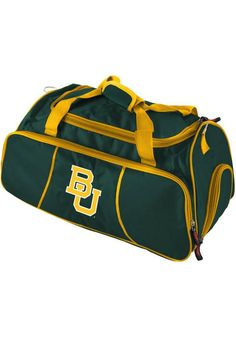 Baylor Bears green/gold gym duffel bag