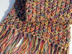 Versa Scarf - Leads to full pattern instructions, quite different - knit with two different sized needles.