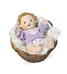 Handmade cloth baby dolls from Sweden. The series is called Rubens Barn Dolls.