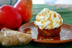 Cinnamon and Coriander: Pear & Ginger Cupcakes with Salted Rum Caramel