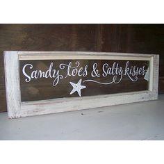 Sandy toes and salty kisses shabby beach by OldBarnRescueCompany, $90.00