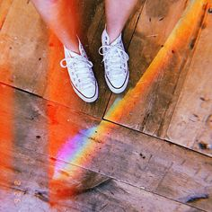 a magical floor rainbow for ur friday  #house #garden #arts #machine #repair #diydeco