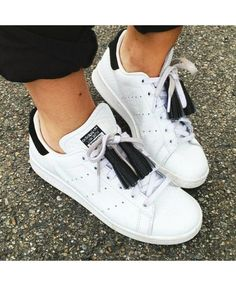 new concept 879b8 0f6f1 Adidas Stan Smith Womens Trainers In Black White Style Stan Smith, Adidas  Shoes Women,