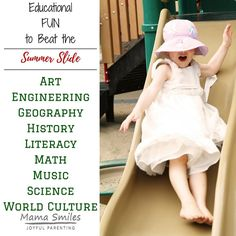 Fabulous art, engineering, geography, history, literacy, math, music, science, and world culture activities that will keep your kids learning while having fun all summer long.