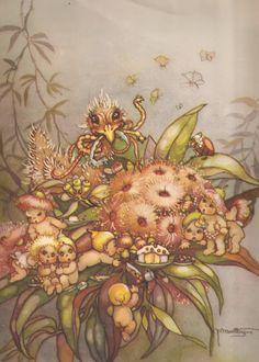 Faeries and Little Folk: Peg Maltby's Fairy Folk Brownie Fairy, Fairies Photos, Victorian Books, Australian Art, Australian Animals, Fairy Queen, Vintage Fairies, Bee Art, Baby Fairy