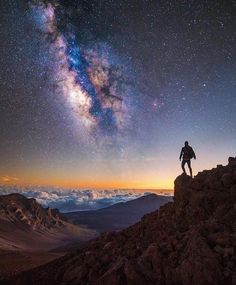 Haleakala National Park Life is exactly what you want it to be.mines just one big adventure. ✨ Exploring Maui, Hawaii with Cosmos, Milky Way Photography, Hawaii Honeymoon, Maui Vacation, Maui Hawaii, Stargazing, Night Skies, National Parks, Scenery