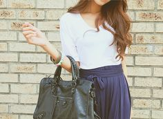 ImageFind images and videos about girl, fashion and style on We Heart It - the app to get lost in what you love. Asian Fashion, Fashion Beauty, Womens Fashion, Fashion Trends, Dressed To The Nines, Favim, Passion For Fashion, Cute Outfits, Work Outfits