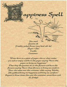 Lot 15 Spells for Book of Shadows Pages BOS Page Real Witchcraft Wicca 2 Healing Spells, Magick Spells, Wicca Witchcraft, Candle Spells, Wiccan Spell Book, Wiccan Witch, Happiness Spell, Spells For Beginners, Gypsy Spells