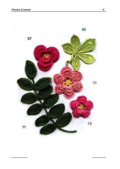 Crochet Flowers - Chart