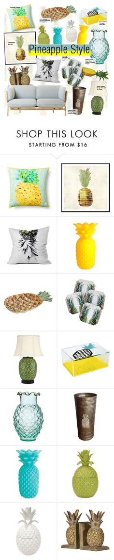"""Pineapple Home Decor"" by kusja on Polyvore"