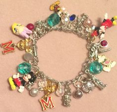 Loaded Disney Charm Bracelet Crystal Mickey Minnie Mouse Tinkerbell Donald OOAK | Collectibles, Disneyana, Contemporary (1968-Now) | eBay!